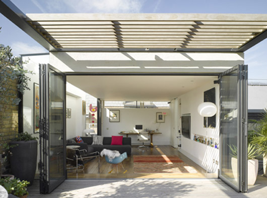 Family Home Decorating With The Extension Flat Roof Design
