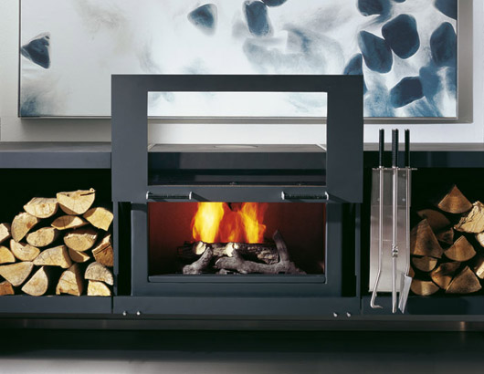modular stove system fireplace design interior