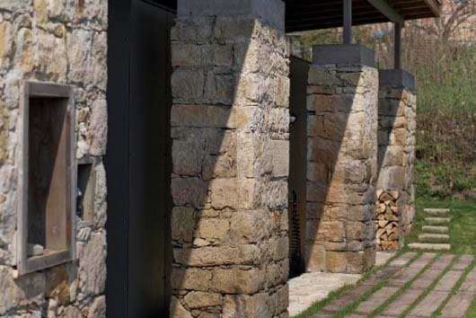 stone wall home design architecture ideas