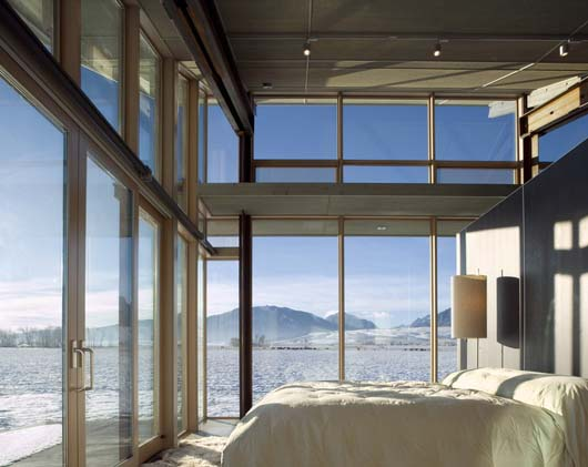 luxury bedroom design interior glass wall