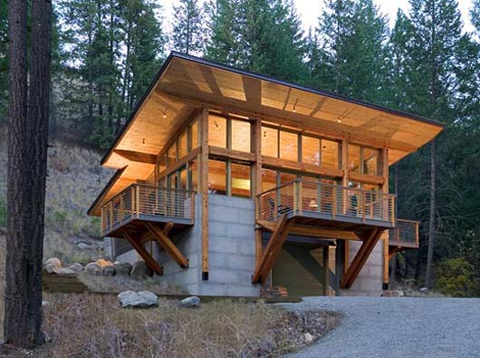 Hillside Home Design Architecture Minimalist Cabin Decorating