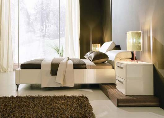peral leather bed design interior furnitures
