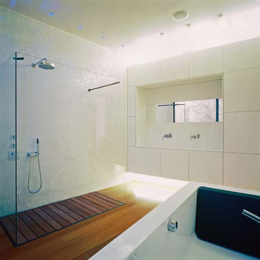 modern bathroom decorating wooden floors design