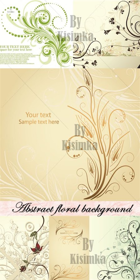 Stock vector: Abstract floral background 3