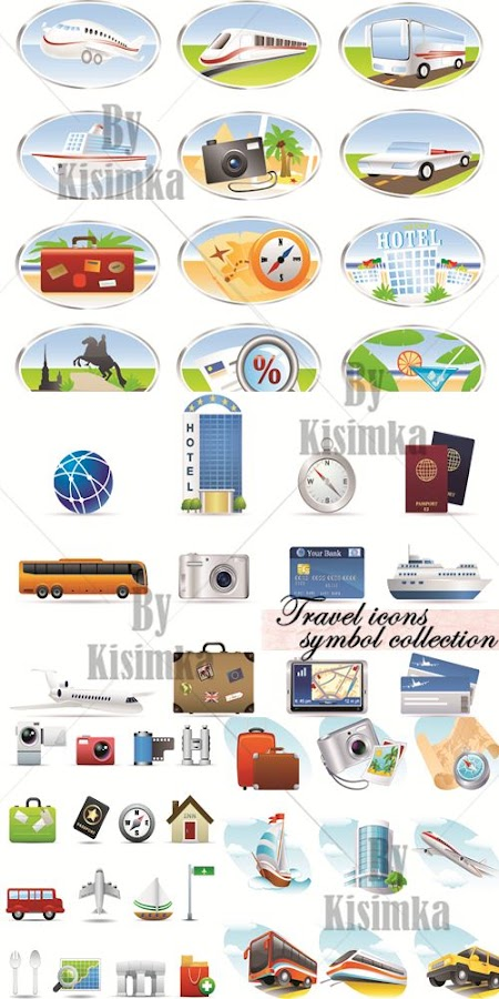 Travel icons symbol collection 2