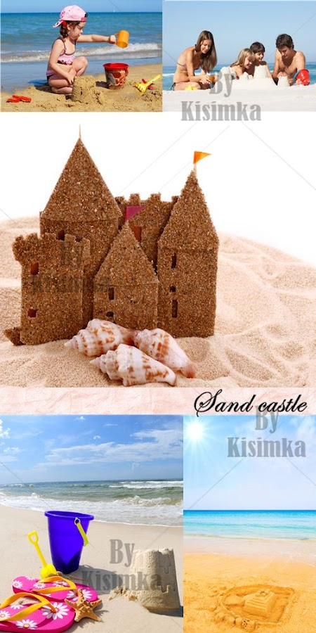 Stock Photo: Sand castle