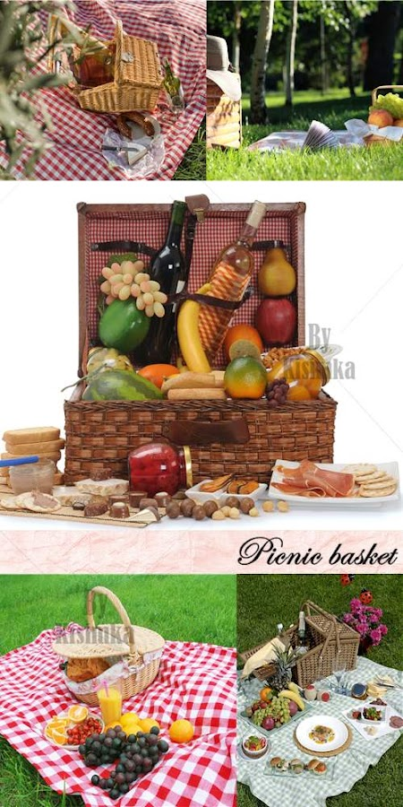Stock Photo: Picnic basket 2