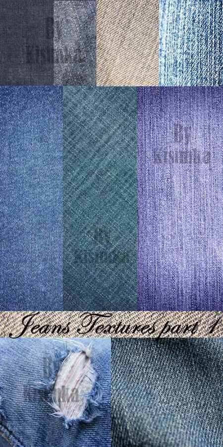 Stock Photo: Jeans Textures part 1