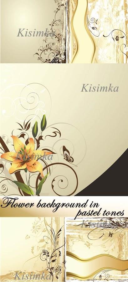 Stock vector: Flower background in pastel tones