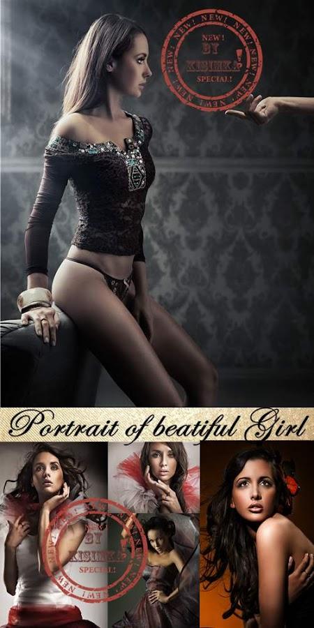 Stock Photo: Portrait of beatiful girl
