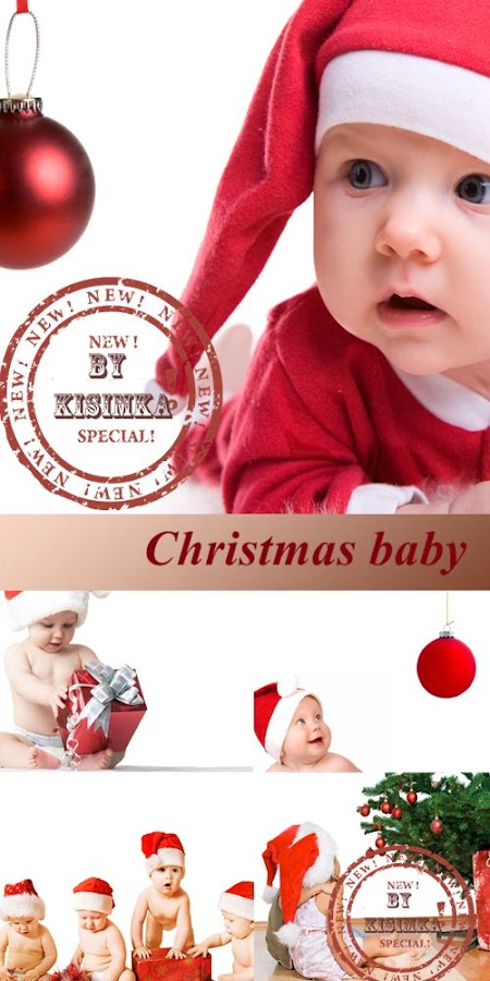 Stock Photo: Christmas baby 3