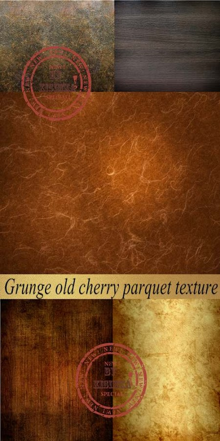 Stock Photo: Grunge old cherry parquet texture