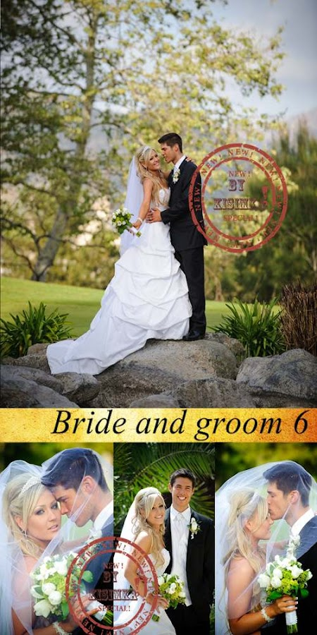 Stock Photo: Bride and groom 6
