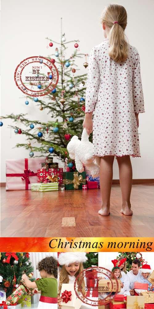 Stock Photo: Christmas morning