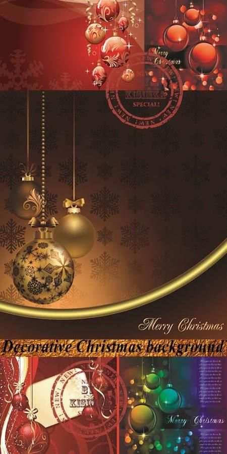 Stock: Decorative Christmas background 3