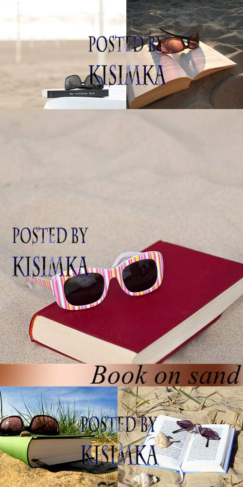 Stock Photo: Book on sand