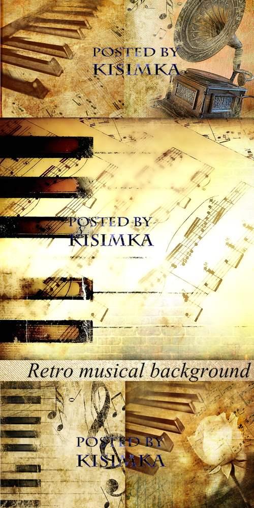 Stock Photo: Retro musical background