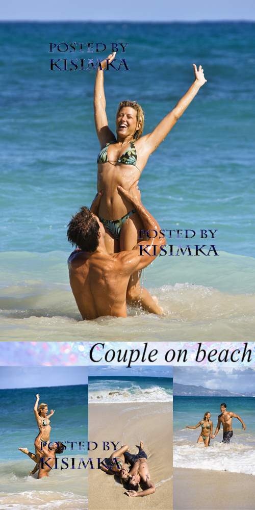 Stock Photo: Couple on beach