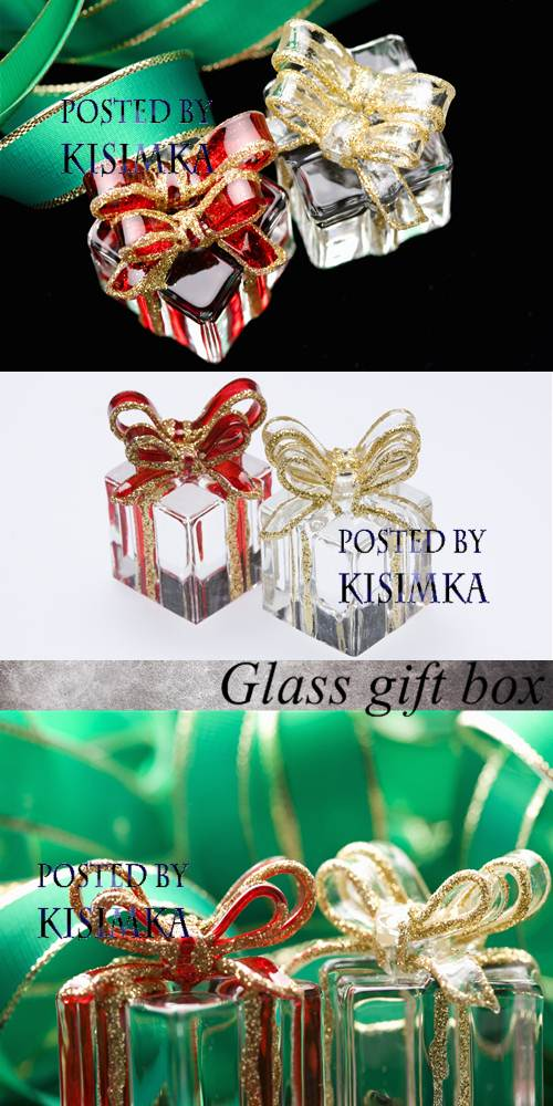 Stock Photo: Glass gift box