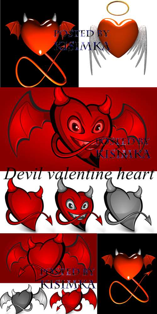 Stock Photo: Devil valentine heart