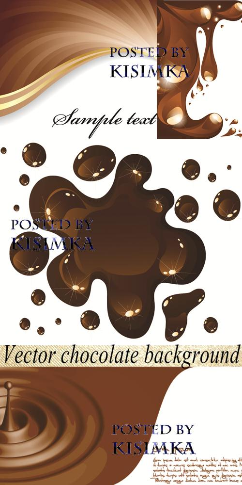 Stock: Vector chocolate background