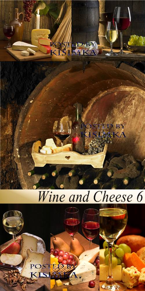 Stock Photo: Wine and Cheese 6