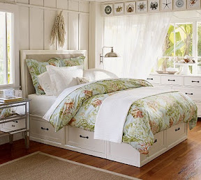 Pottery Barn Beds Twin With Joined Headboard