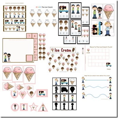 ice cream themed printables and science projects. Black Bedroom Furniture Sets. Home Design Ideas