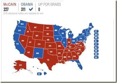 2008 electoral vote map - Los Angeles Times-1