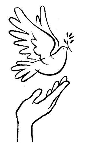 Dia de la paz dibujos de palomas para imprimir y pintar - Dibujos para la pared ...