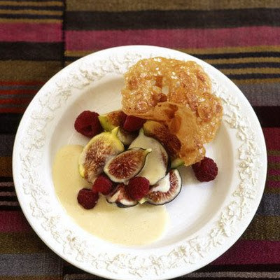 Figs and Raspberries With Lavender-Honey Cream