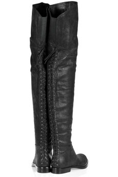 MIU MIU - Thigh-high washed-leather boots - 850