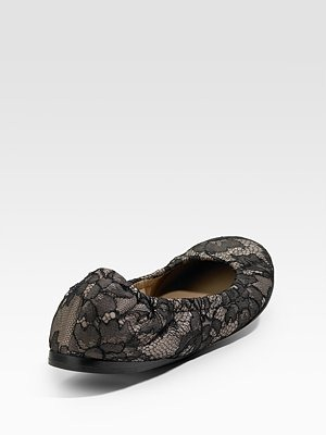 VALENTINO - SCRUNCH LACE BALLET FLATS - 441