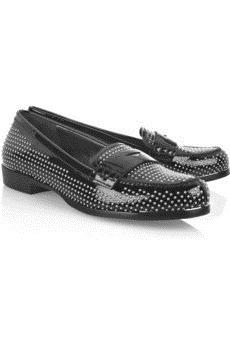 MIU MIU - Studded patent-leather loafers - 512