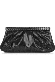 Christian Louboutin - Kathena metallic leather clutch - 995
