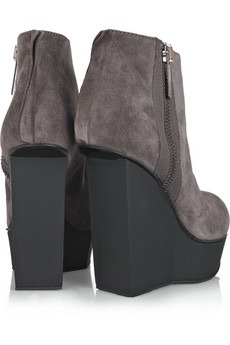 ACNE - Hybria suede wedge boots - 430