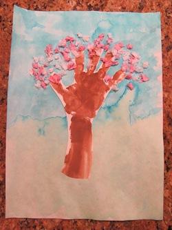 Handprint Blossom Tree