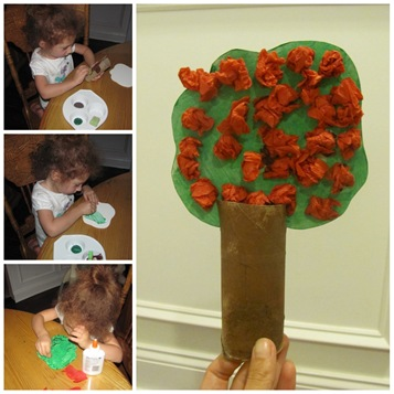 Toilet Paper Tube Apple Tree