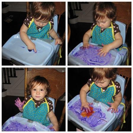 Juliette finger painting