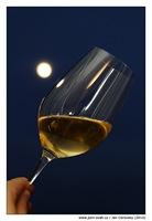 Sklenka vína a měsíc