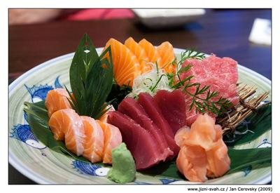 Hanabi Hibachi House Sashimi Toro salmon tuna
