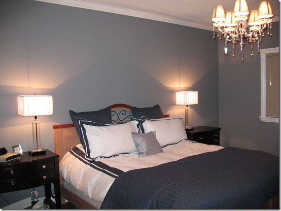 grey blue bedding