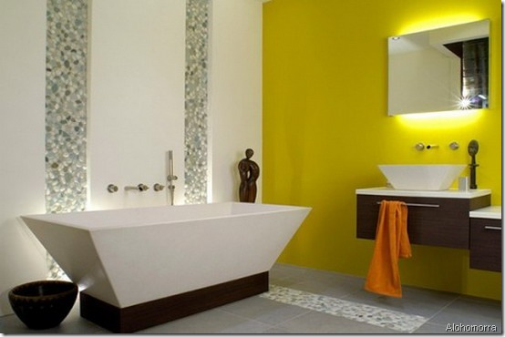 yellow bathroom alohomorra