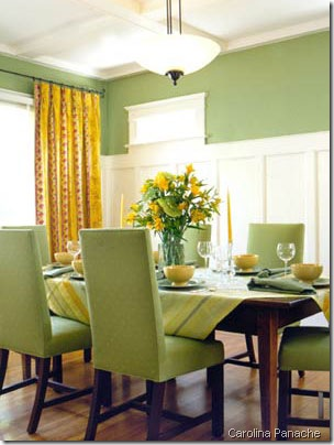 Classic Green Dining carolina panache