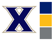 xavier logo with pantone