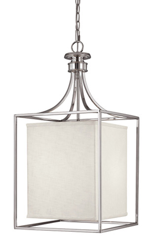 union polished nickel large square lantern