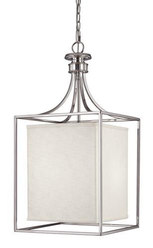 union polished nickel large square lantern