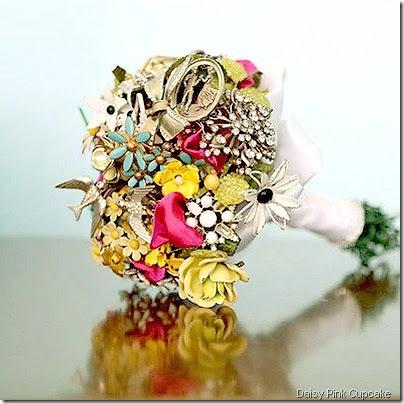 bouquet daisy pink cupcake