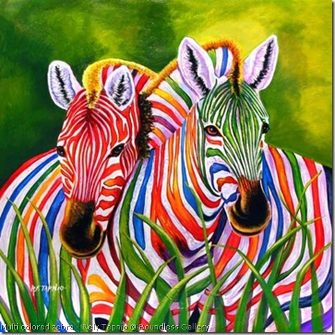 multi colored zebra