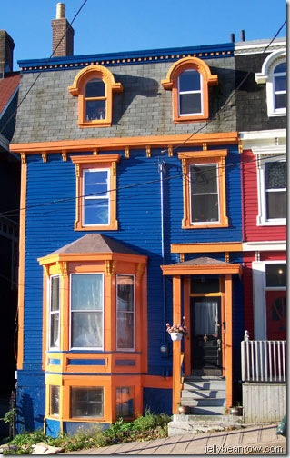 blue orange house